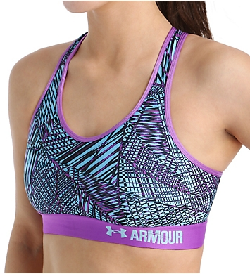 Under Armour Armour Mid-Impact Printed Compression Sports Bra