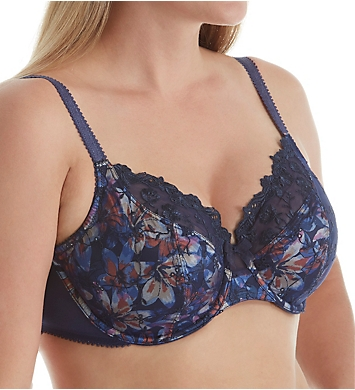 Whimsy by Lunaire Saint Croix Embroidered Eyelet Underwire Bra
